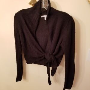 Old Navy Black Tie Sweater